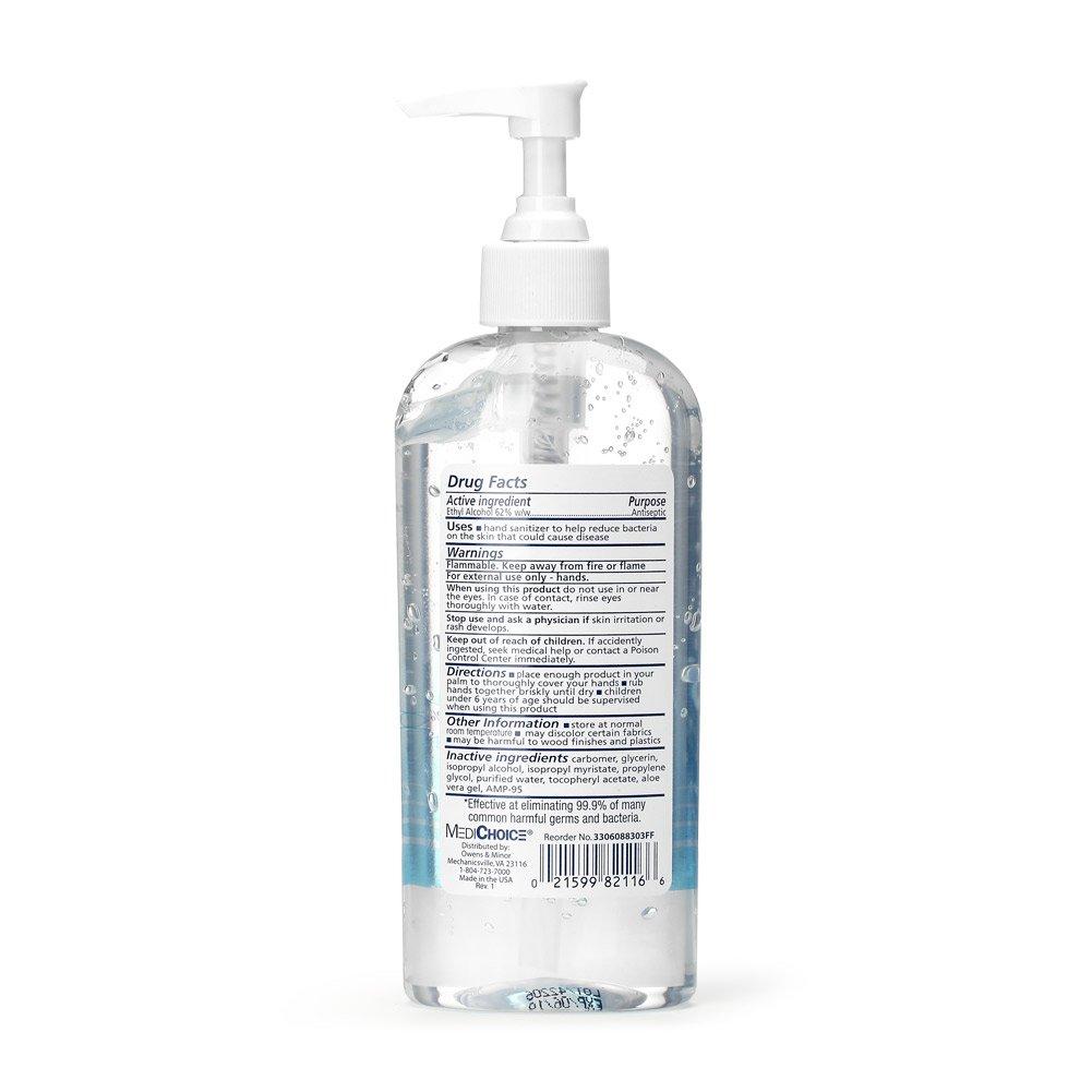 Medichoice Instant Hand Sanitizer Honey Scented Gel Owens