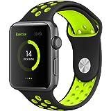Apple Watch Bracelet Series 2 / Series 1, EloBeth Remplacement de Silicone Souple Sport Band Strap pour Apple Watch Tous les modèles Apple iWatch/Apple Watch Nike+