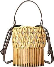 Bolsa de Madeira com Varetas em Bambu e Canutilhos