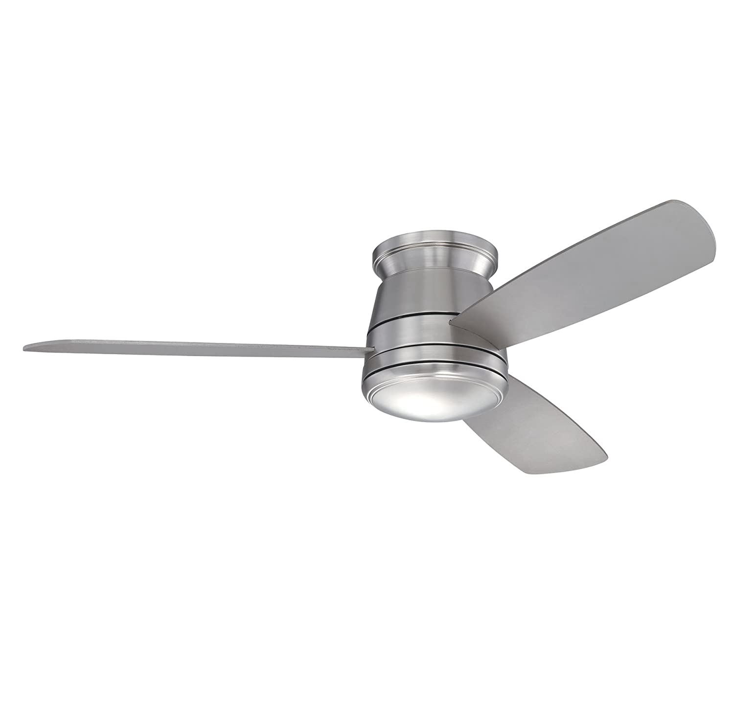 Savoy house 52 417h 3sv sn polaris hugger 52 inch ceiling fan satin savoy house 52 417h 3sv sn polaris hugger 52 inch ceiling fan satin nickel close to ceiling light fixtures amazon aloadofball Gallery