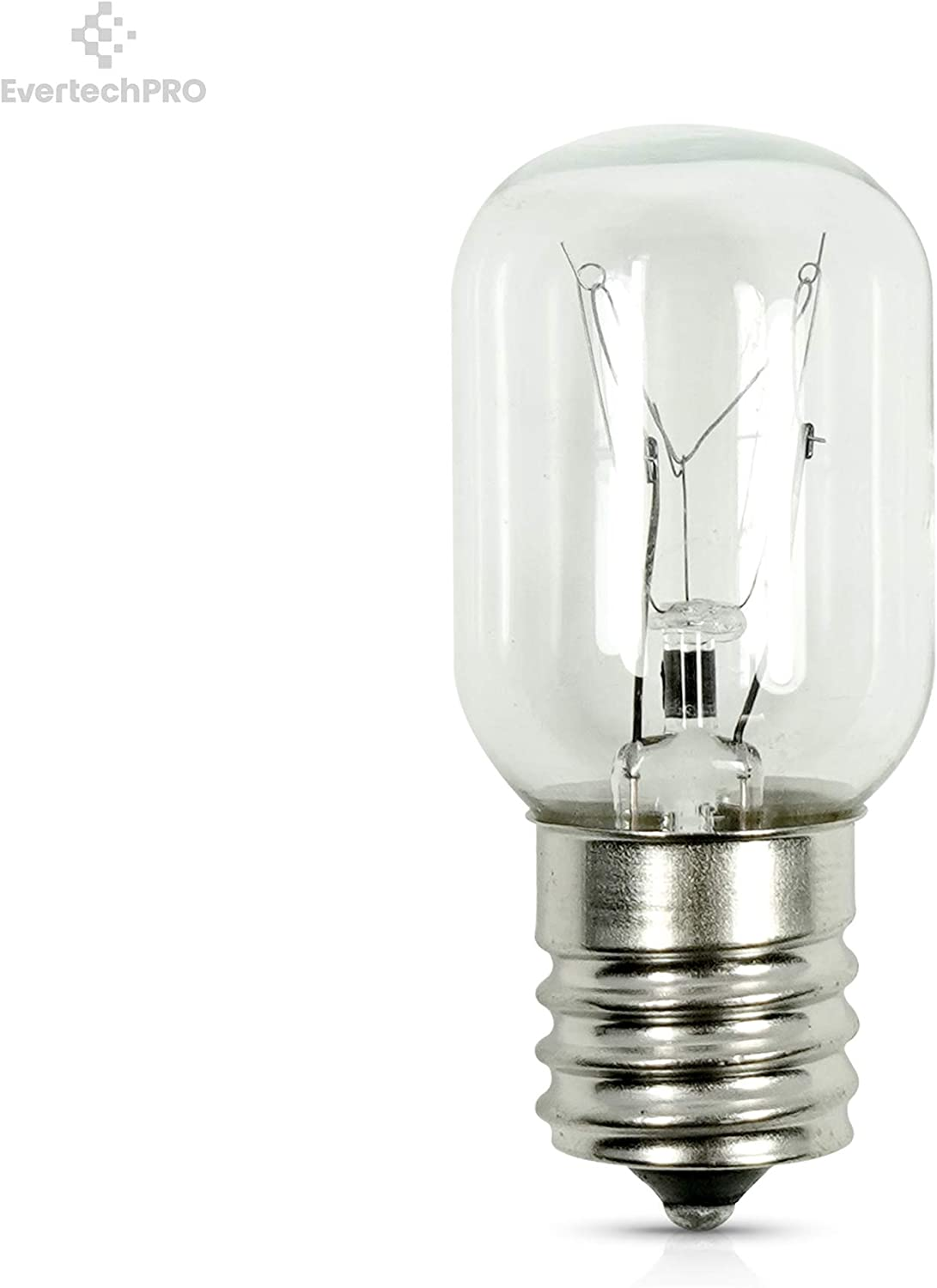 EvertechPRO Refrigerator Incadescent Lamp 40 W Replacement for GE WB25X10030
