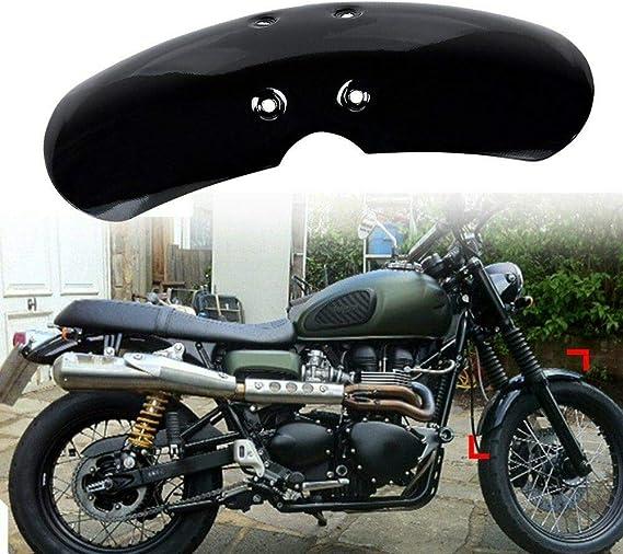 TOOGOO Garde-Boue Avant Moto Court pour Victory Bonneville T100 Scrambler Thruxton 90 01-16 Noir Mat