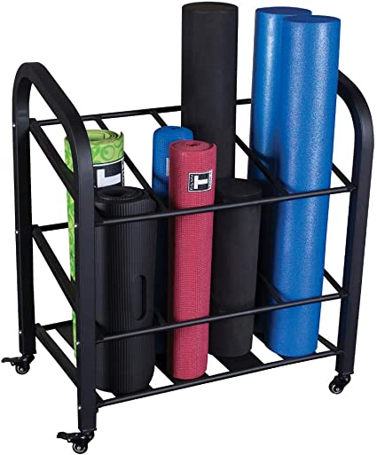 Amazon Com Body Solid Foam Roller And Yoga Mat Storage Cart Gyr500 Sports Outdoors
