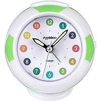 Ayybboo Reloj Despertador Analógico Niños, Despertador para Niños