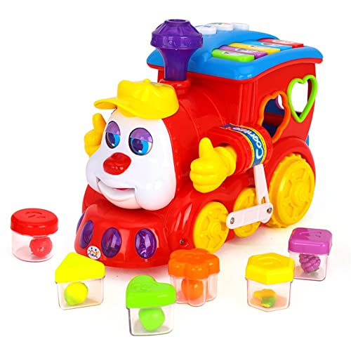 early education 2 year olds baby toy intelligence train with musiclightblock