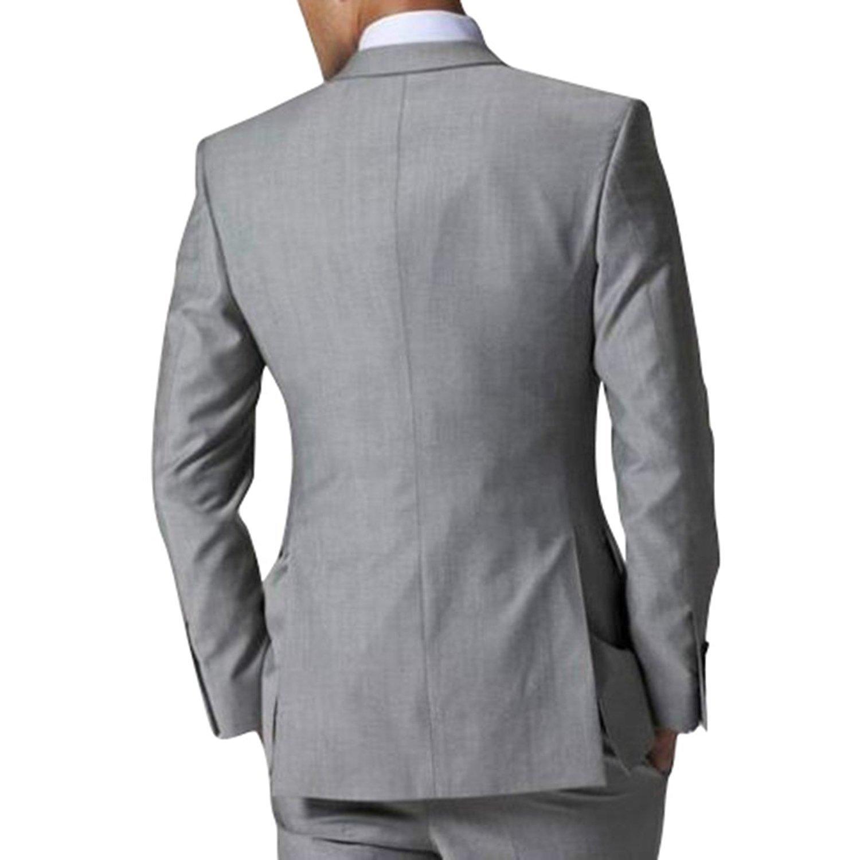 Amazon.com: jydress para hombre Slim Fit trajes de negocios ...