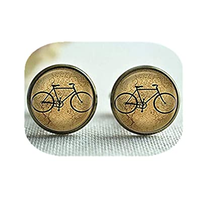 sdkotretro bicicleta Gemelos Set de corbata, bicicleta hombres ...