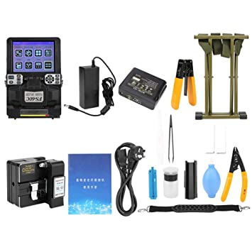FS-60C Automatic Fiber Optic Splicing Machine Fiber Cleaver Fusion Splicer Kit