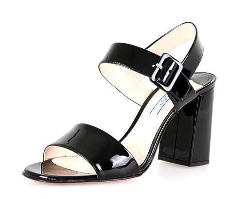 Prada - Mocasines para Mujer, Color Negro, Talla: Amazon.es: Zapatos y complementos