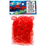 Official Rainbow Loom 600 Ct. Rubber Band Refill PackJELLY RED [Includes 25 C-Clips!]
