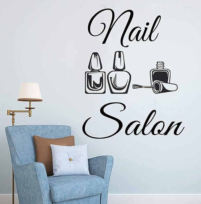 Logotipo del salón de uñas Etiqueta de la pared Naisl Polish Art ...