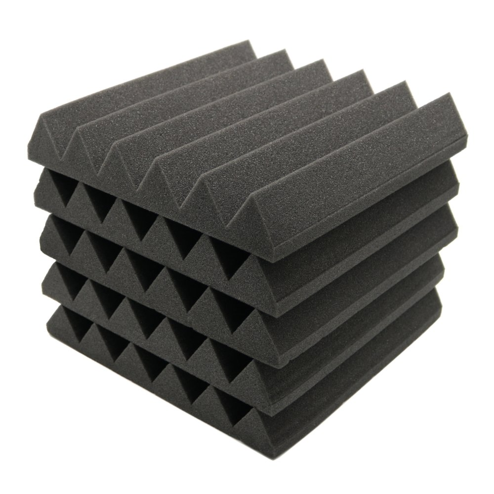 Paneles de absorción de sonido; espuma de insonorización para estudio acústico (12 unidades de 5 x 30 x 30 cm): Amazon.es: Instrumentos musicales