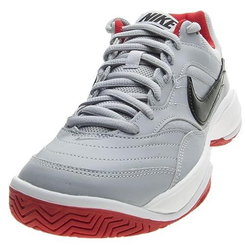 Nike Nike Court Lite - Zapatillas de Tenis de Material Sintético para Hombre Gris Grigio/Nero/Rosso Gris Size: 41: Amazon.es: Zapatos y complementos