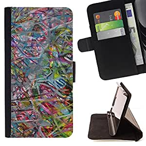 Jordan Colourful Shop - abstract art pastel color For Apple Iphone 6 - Leather Case Absorci???¡¯???€????€??????????