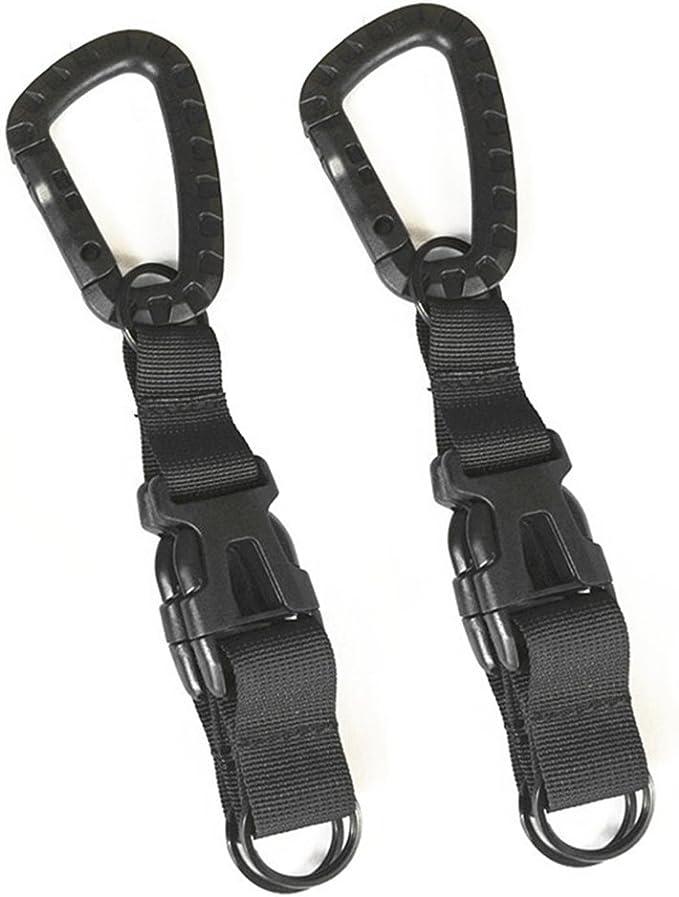 Nylon Tactical Molle Belt Carabiner Key Holder Camp Bag Hook Strap Buckle J0Q0