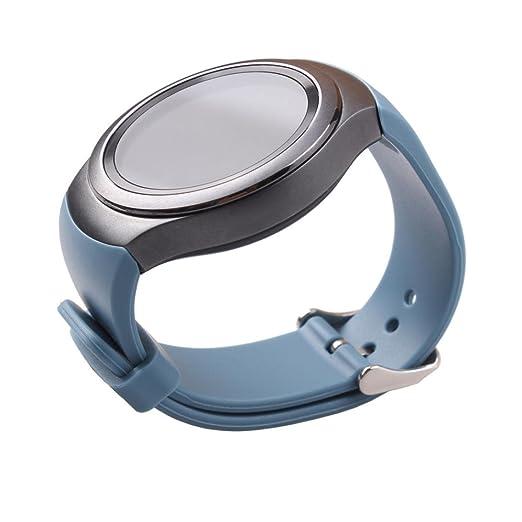 Perman lujo silicona reloj banda correa reloj para Samsung Galaxy Gear S2 SM-R720, color azul: Amazon.es: Relojes