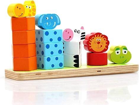 Alfie Russo Bloques de construcción para niños Animal Jenga Cuenta Juguetes educativos de Madera para niños de Gran Altura para niños: Amazon.es: Juguetes y juegos