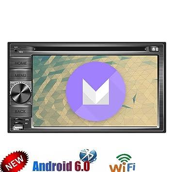 Actualizar Android 6.0 Doble Din coches reproductor de DVD de cuatro núcleos 6.2 tacto estéreo coche ...