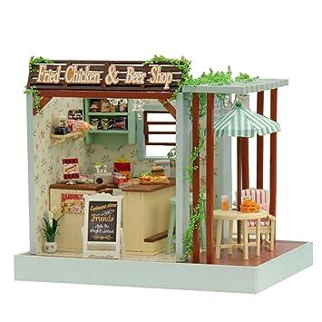 MagiDeal 2 Sets DIY Holz Puppenhaus Möbel Spielzeug Handwerk Kinder Sonstige