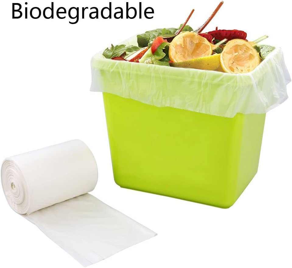 Bblie 15L 100% Biodegradables Bolsas de Basura, Blanco, 90: Amazon ...