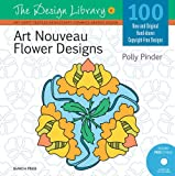 img - for Art Nouveau Flower Designs (DL06) (Design Library) book / textbook / text book