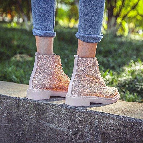 Mode Sonnena Martin Top High Party Flache Stiefel Boots 40 Sexy Lederstiefel 36 Pink Stiefel Stiefel Plateau Damen Elegant Frauen Glanz Warm Schuhe Ferse Einzelne Schnürer Mode Ur8rIwx