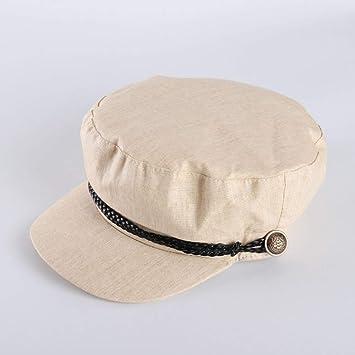UAOOK Techo plano for mujer Sombrero militar clásico Sombrero de ...