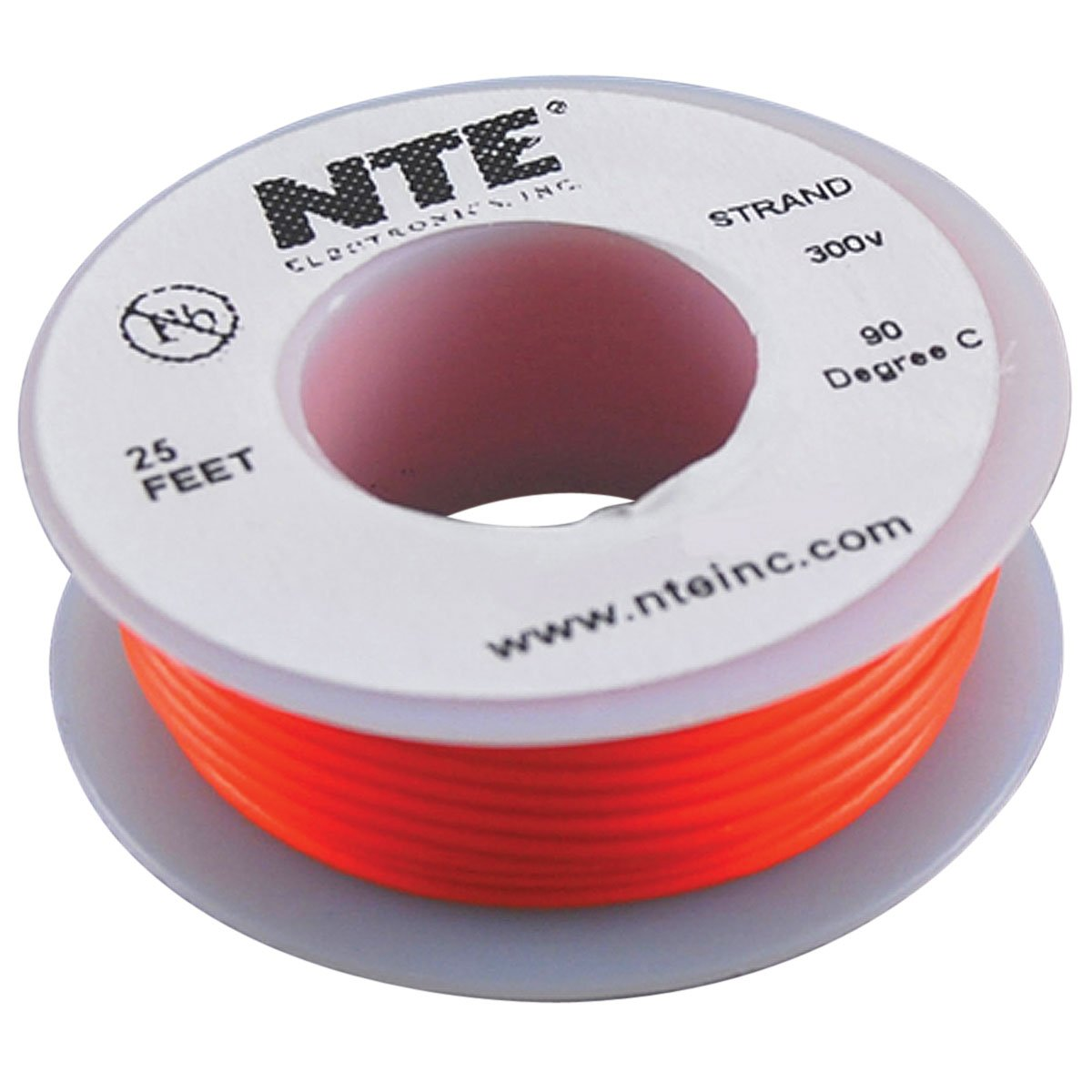 Amazon.com: NTE Electronics WH24-03-25 Hook Up Wire, Stranded, Type ...