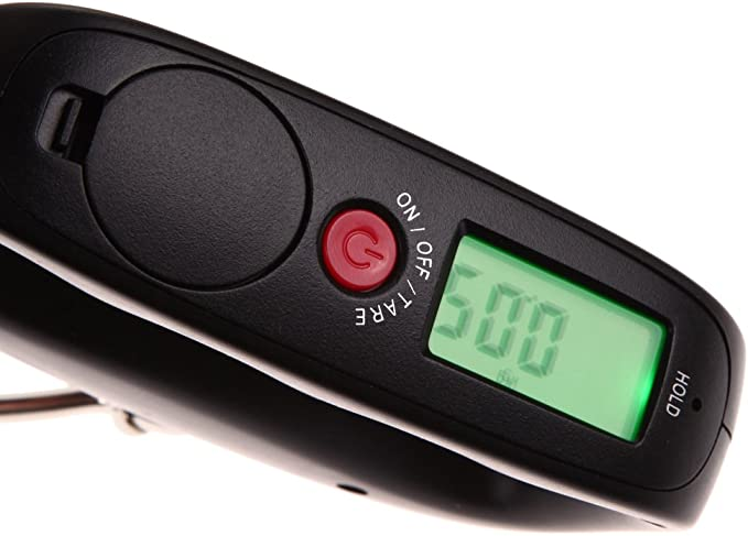 Vanpower 50kgX10g Electronic Portable Scale Digital LCD Display Travel Luggage Scale kg//lb//oz//g Weighing Units