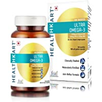 Healthkart Ultra Omega Enriched With 1250 Mg With 425Mg Epa & 325Mg Dha & Vitamin E - 90 Softgels