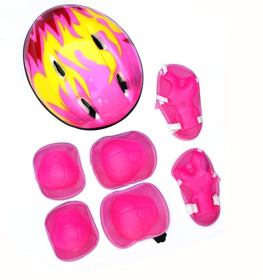 Hzb821zhup - Juego de 7 Cascos de Bicicleta Ajustables para niños, Casco de Ciclismo