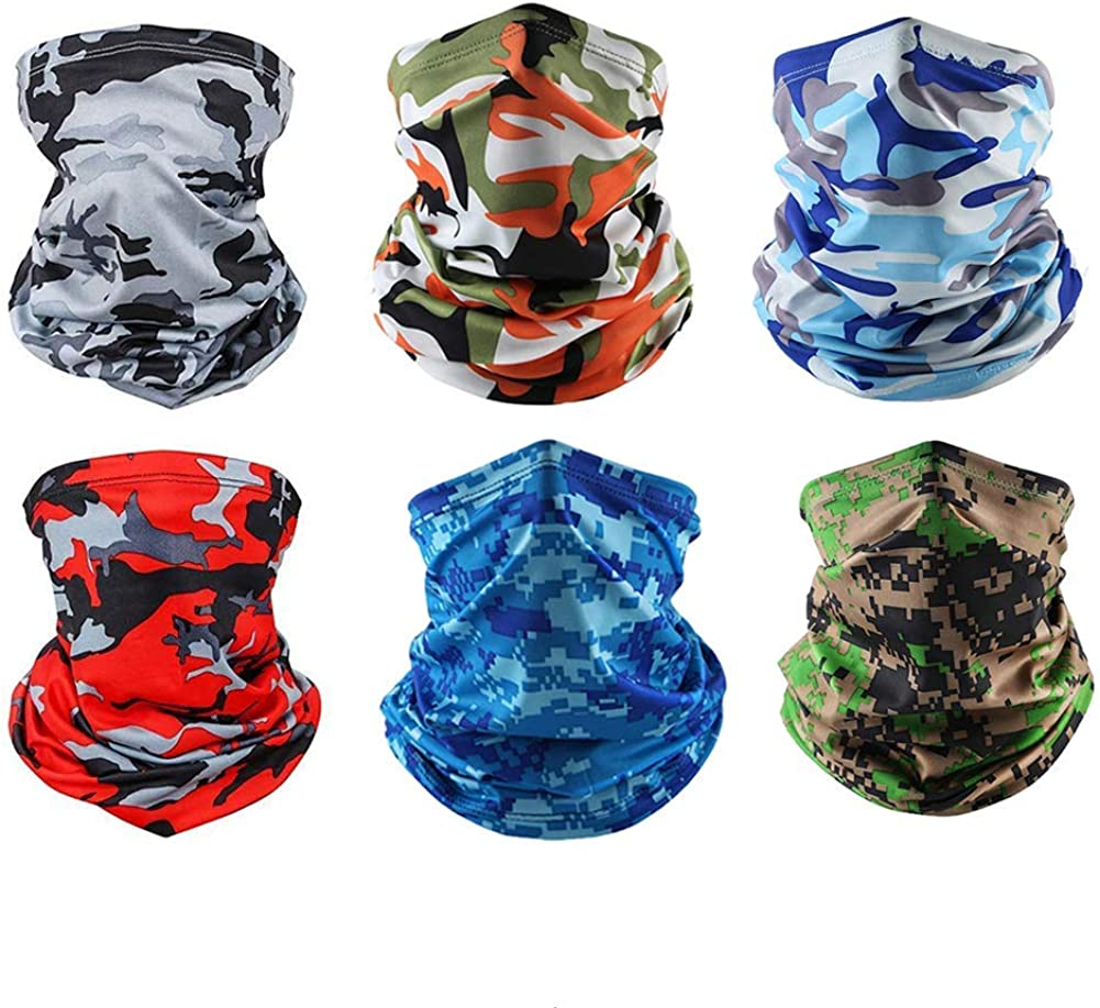 BUYITNOW Cooling Neck Gaiter Face Mask for Men Women Outdoor - Camouflage Bandana Dust Wind Balaclava Headwear