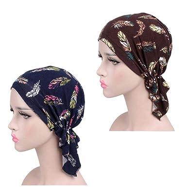 ZYCC Bufanda del pañuelo del algodón de las mujeres Sombrero de Chemo de  Chemo del Headwear e2d18bf49d39