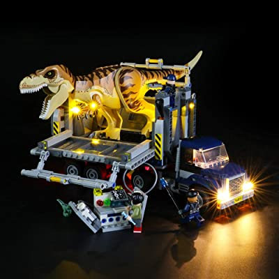 BRIKSMAX Led Lighting Kit for T. rex Transport - Compatible with Lego 75933 Building Blocks Model- Not Include The Lego Set: Toys & Games