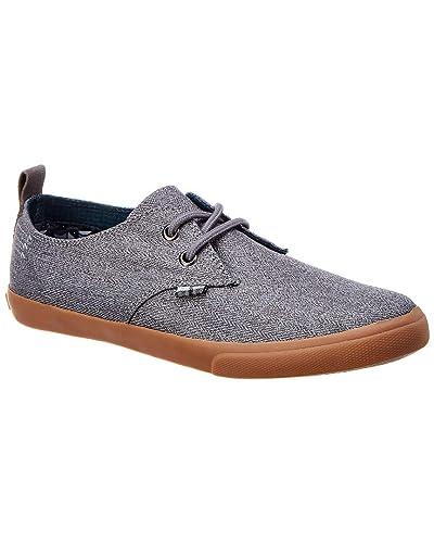 59a5595375a14 Amazon.com  Ben Sherman Bristol Mens Gray Textile Lace Up Sneakers ...