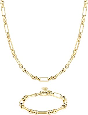 14K Gold Plated Fashion Designer Chunky Necklace for Women Girls BOUTIQUELOVIN Gold Chain Choker Necklace