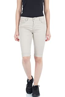Damenmode Damen Caprijeans Capri Jeans Hose Hüftjeans Dunkelblau Bermudas Shorts D111 Jeans