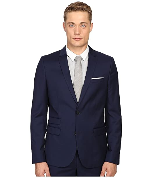 be4fe2decac The Kooples Men's Fitted Suit Jacket w/ Pocket Square Blue Jacket 50R:  Amazon.ca: Clothing & Accessories
