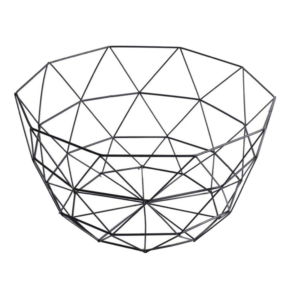Fairylove Hollow Iron Wire Fruit Basket Rack Metal Fruit Storage Bowl Home Desk Decor