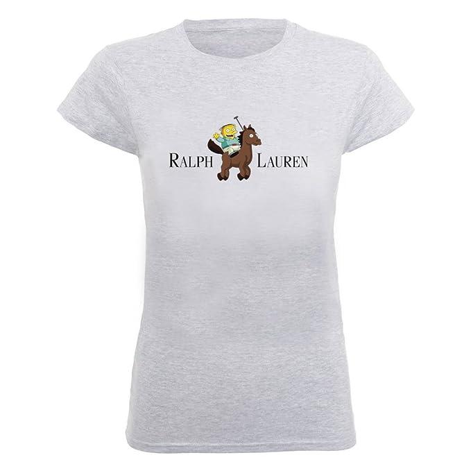 Ralph Lauren Funny Cartoon Women s Camiseta: Amazon.es: Ropa y accesorios