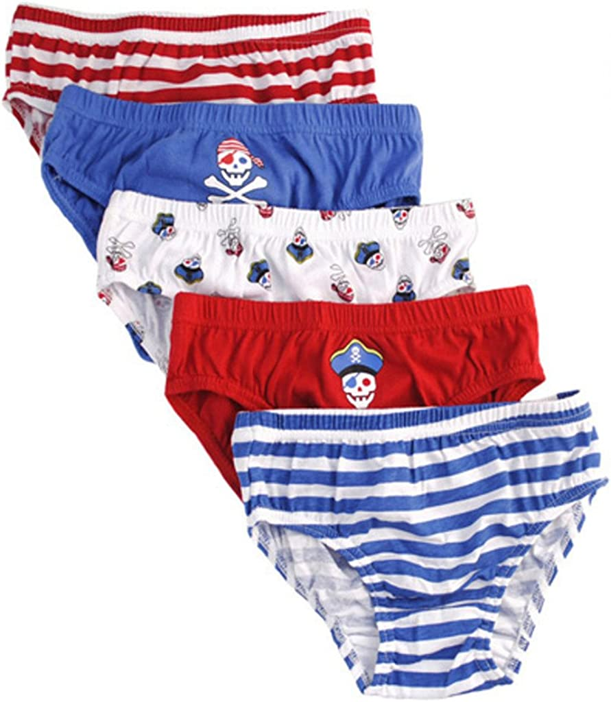 Tom Franks Boys Pirate Pattern 5 Pack Briefs Underpants