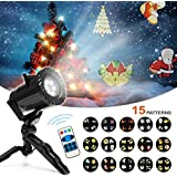 Blusmart Christmas Projector Lights 15 Scene Patterns Series with Waterproof Motion Projector LED Light with Remote Control,Outdoor or Indoor Decoration for Halloween Christmas Party Birthday Holiday