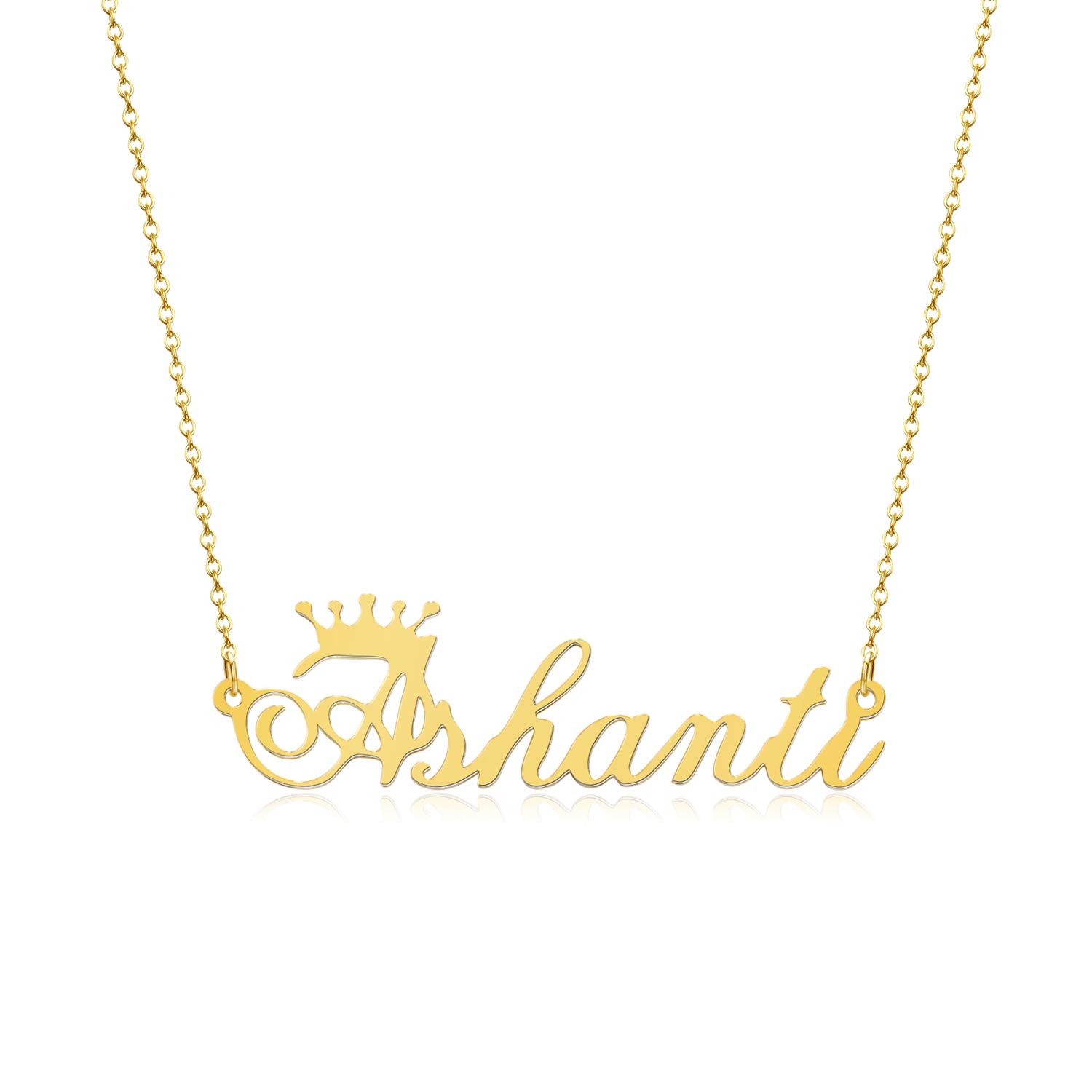 8ef8cb853fe69 Amazon.com: JEWELRY OCEAN Any Personalized Name Necklace Cursive ...