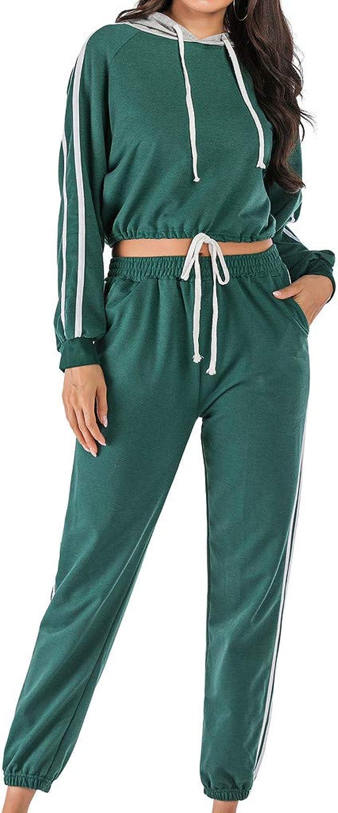 ABCone - Chándal de Gimnasia para Mujer con Capucha + Pantalones ...