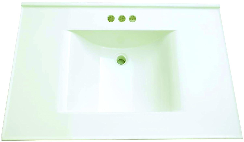 Premier Faucet 261347 Cultured Marble Vanity Top White 22 x 31