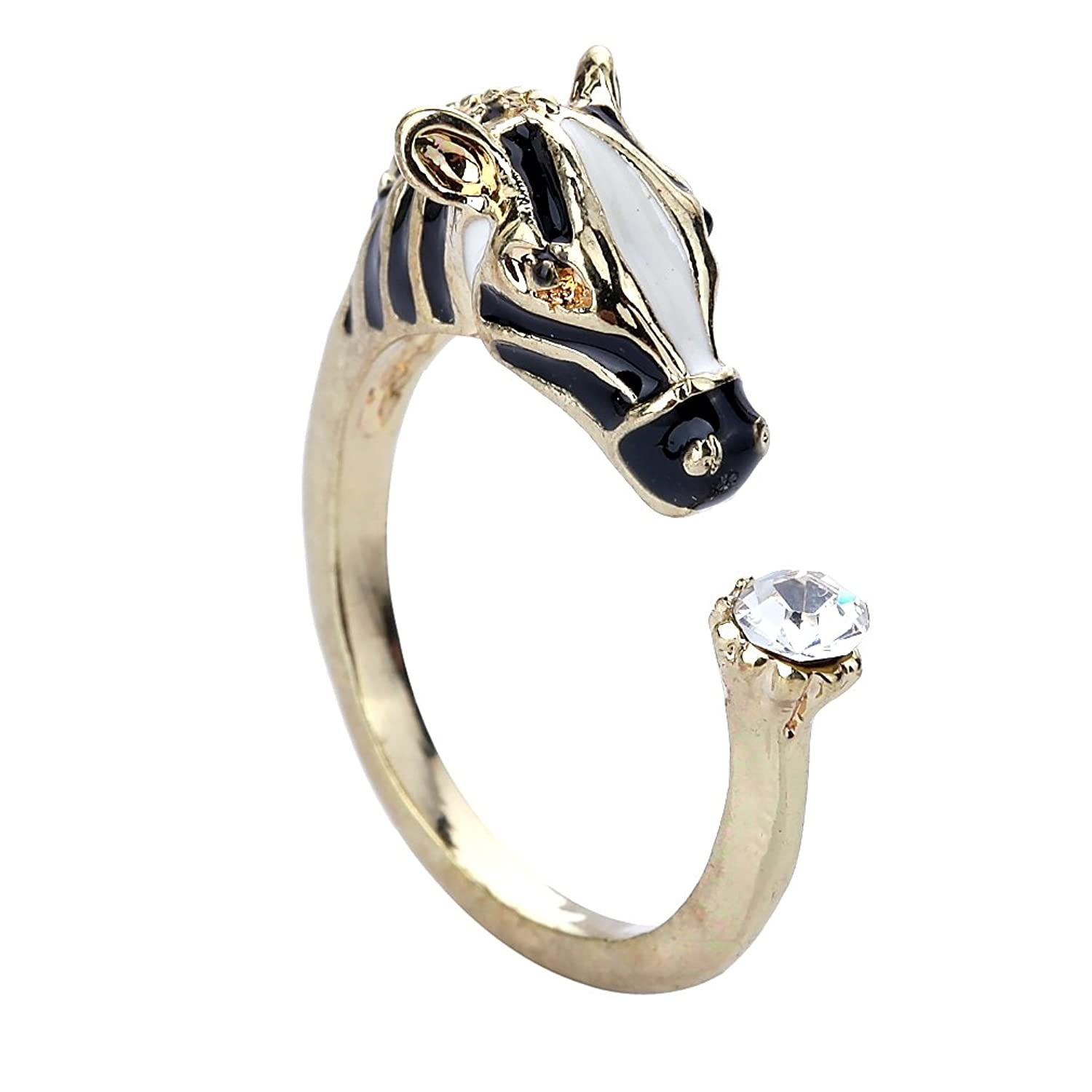 YAZILIND Shiny Jewelry Simple Design Opening Rose Gold Plated Rings for Women Adjustable pkdrMkx7