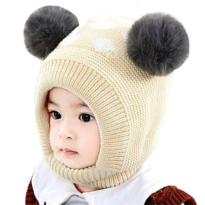 b78f56635 Bonvince Baby Girls Boys Winter Warm Hat Beanies Caps Cute Thick Earflap  Hood Hat Scarves Skull Caps