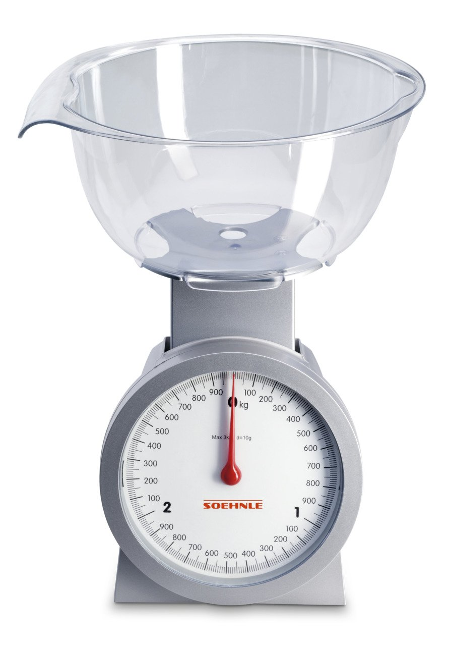 Soehnle Actuell - Báscula de cocina analógica con recipiente, color blanco: Amazon.es: Hogar