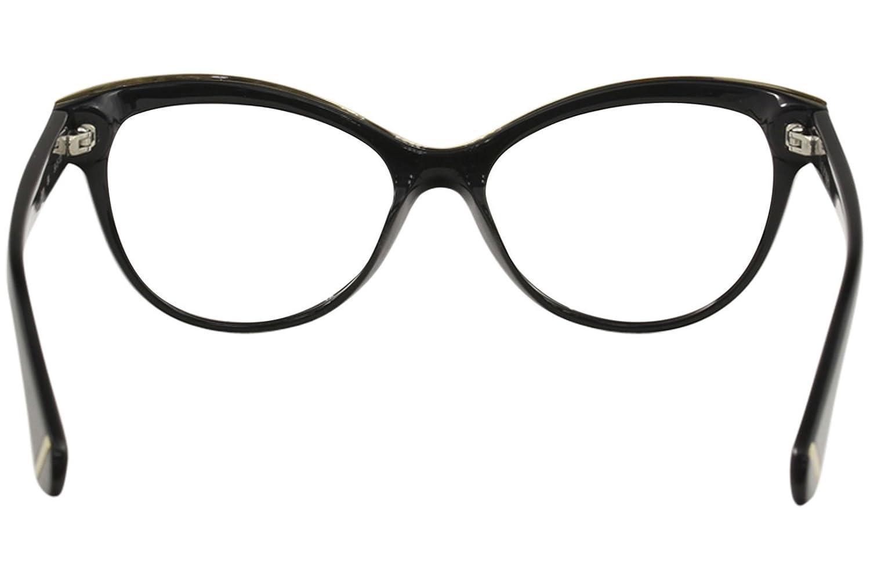 5da1245c37 Amazon.com  Zac Posen Women s Eyeglasses Jayce BK Black Full Rim Optical  Frame 54mm  Clothing