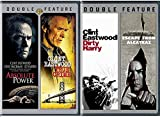 4 Feature Films of Clint Eastwood Dirty Harry / Escape from Alcatraz + Absolute Power & True Crime Movie Collection Film Four Classic pack